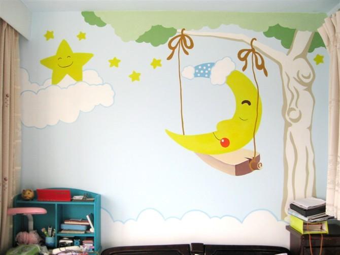 手绘背景墙画